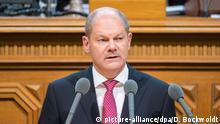 Deutschland Regierungserklärung nach G20-Krawallen vom Hamburgs OB Olaf Scholz