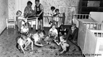 Orphans playing in a room