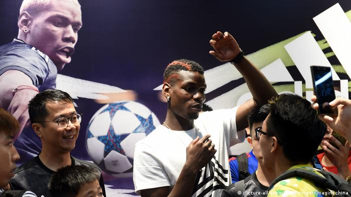 French soccer star Paul Pogba in Hong Kong 2017