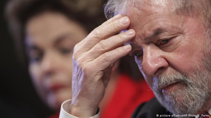 Former Brazilian President Luiz Inacio Lula da Silva and ousted President Dilma Rousseff