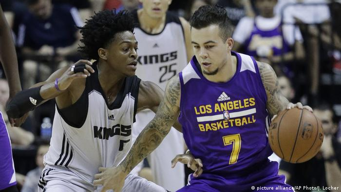 Gabe York of the Los Angeles Lakers (picture alliance/AP Photo/J. Locher)