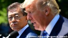 USA Moon Jae-in und Donald Trump