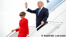 Frankreich Ankunft US-Präsident Donald Trump & Melania Trump