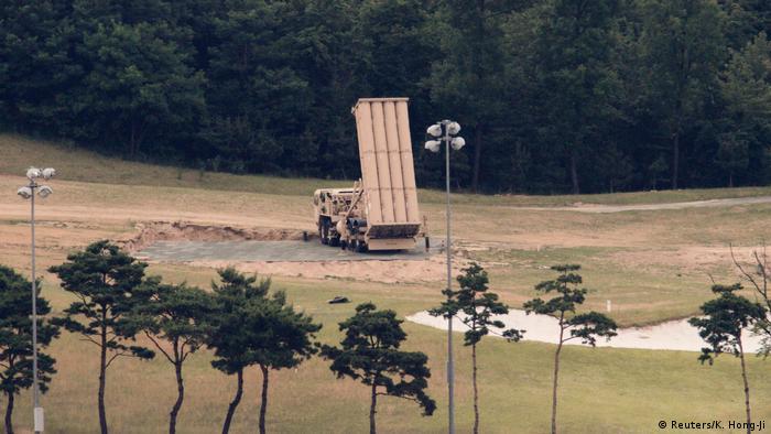 Пусковая установка системы THAAD в Южной Корее