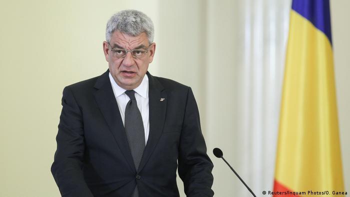 Rumänien Ministerpräsident Mihai Tudose im Cotroceni-Palast