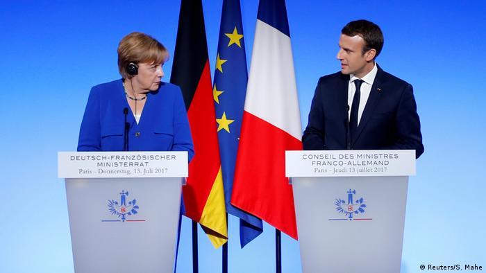 Chancellor Angela Merkel and President Emmanuel Macron