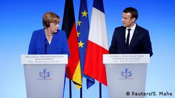 H Γερμανίδα Καγκελάριος Άνγκελα Μέρκελ και ο Γάλλος Πρόεδρος Εμμανουέλ Μακρόν