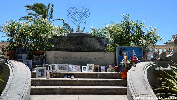 One of the sites in Nice where photos of some of the victims have been displayed.