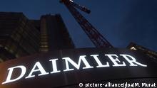 Deutschland Daimler-Logo in Stuttgart