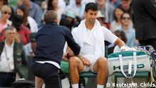Wimbledon Novak Djokovic verletzt