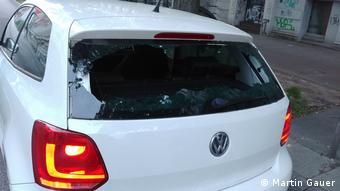 Hamburg beschädigtes Auto