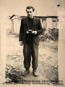 A photo of Miroslav D, a former forced laborer under the Nazis