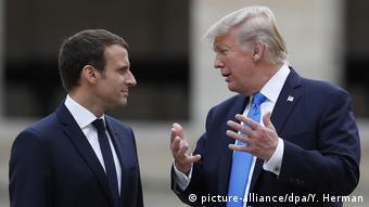 Macron y su huésped, en París.