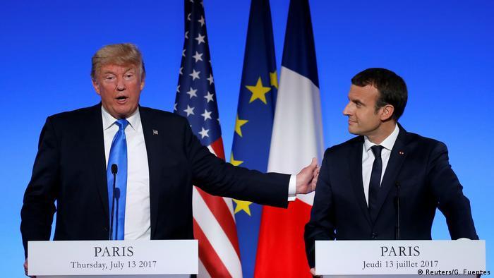 Frankreich Donald Trump im Elysee Palace (Reuters/G. Fuentes)