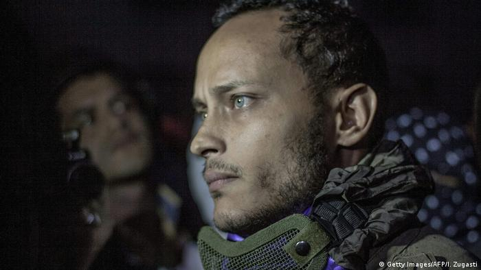 Venezuela Polizist Oscar Perez bei einem Protest in Caracas (Getty Images/AFP/I. Zugasti)