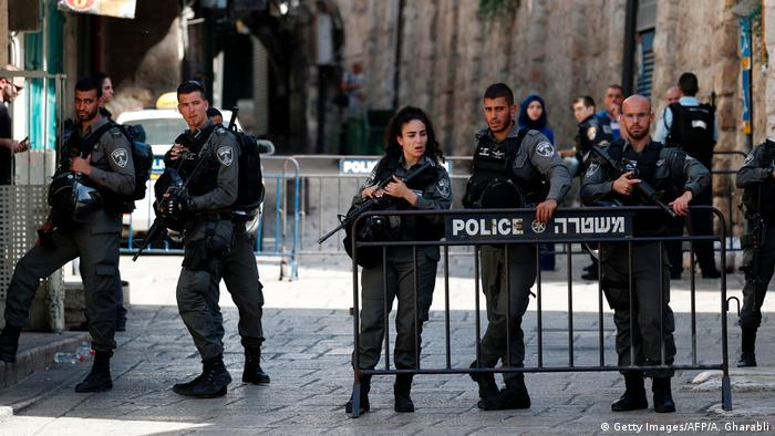 Israel Tempelberg Anschlag in Jerusalem (Getty Images/AFP/A. Gharabli)