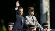 Frankreich Paris Nationalfeiertag Emmanuel Macron