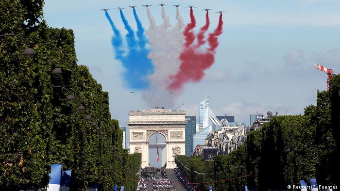 Frankreich Nationalfeiertag in Paris