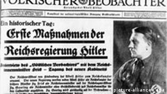 An edition of the NAzi Voelkischer Beobachter newspaper