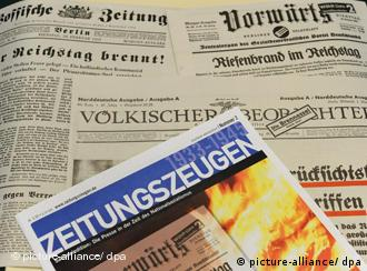 An edition of Zeitungszeugen, the weekly compilation of Nazi era newspapers.