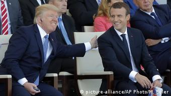 Frankreich Nationalfeiertag in Paris   Trump & Macron