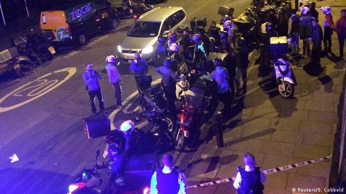 На місці злочину у Лондоні після кислотної атаки (архівне фото)