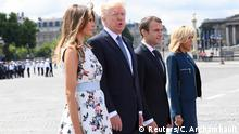 Frankreich Nationalfeiertag in Paris | Ehepaare Trump & Macron