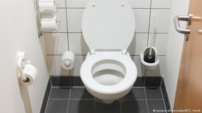 Toilette in einem Büro