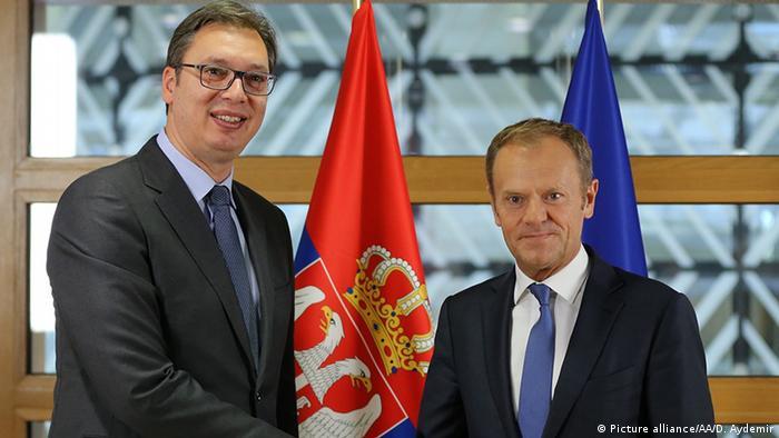 Aleksandar Vučić i Donald Tusk