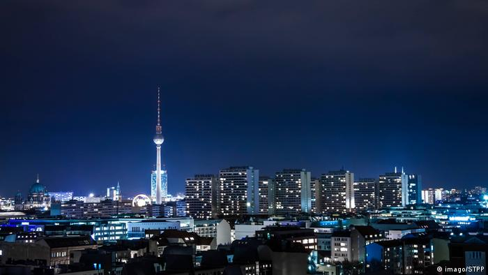 A view of Berlin at night