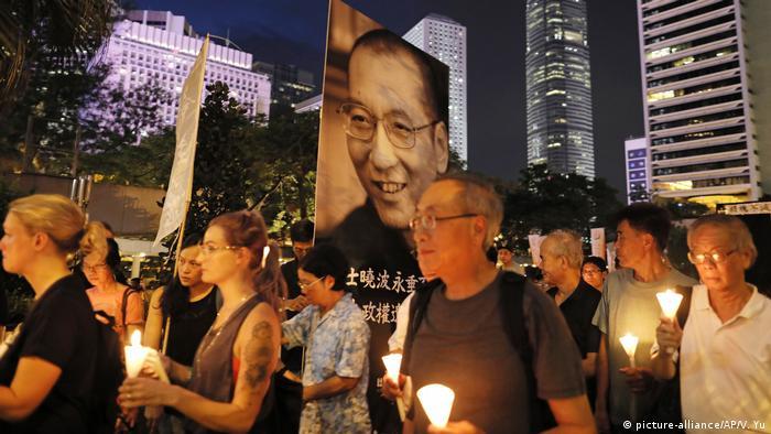 Hongkong Liu Xiaobo Trauermarsch
