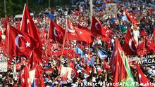 Türkei Istanbul Jahrestag des Putschversuches Nationaler Einheitsmarsch