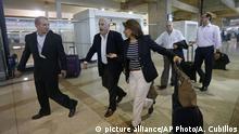 Venezuela Caracas Flughafen Ankunft Ex-Präsidenten