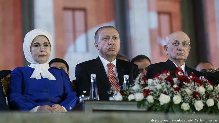 President of Turkey Recep Tayyip Erdogan and his wife Emine Erdogan