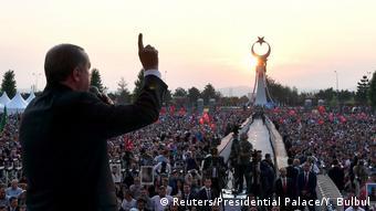 Türkei Kundgebung Jahrestag Putschversuch in Ankara