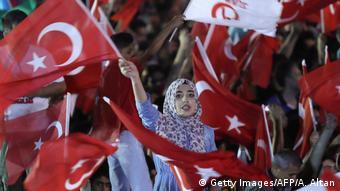 Οπαδοί του Τούρκου Προέδρου Ταγίπ Ερντογάν