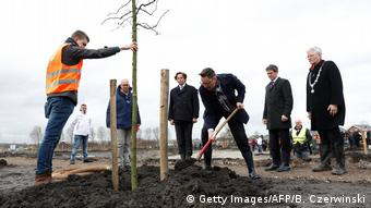 The Dutch plant trees for the victims of MH17 crash in Ukraine