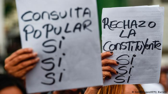 Venezuela Referendum protest (Getty Images/AFP/J. Barreto)
