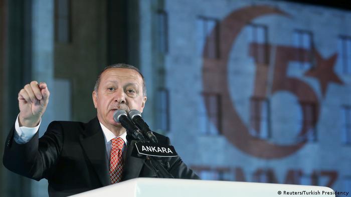 Türkei Ankara Rede Jahrestag Putschversuch (Reuters/Turkish Presidency)