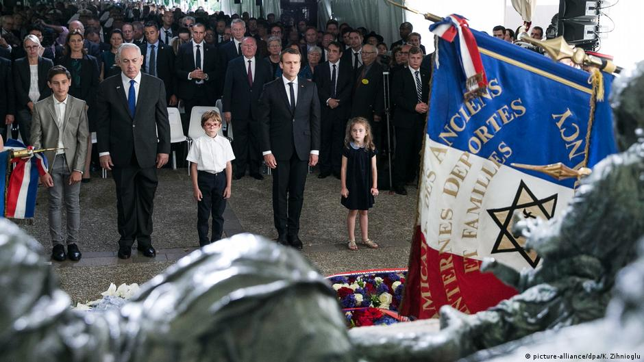 Macron denounces his country's collaboration in the Holocaust, and lashed out at right-wing nationalists who still downplay the French role in the deaths of tens of thousands of Jews.
