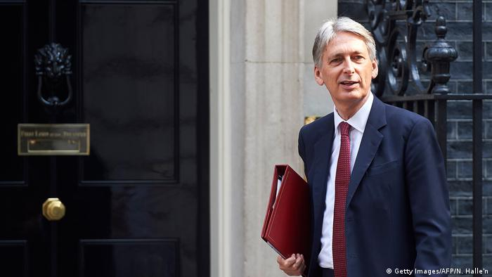London Philip Hammond Finanzminister Großbritannien (Getty Images/AFP/N. Halle'n)