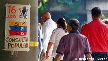 Venezuela Caracas symbolisches Referendum gegen Maduro