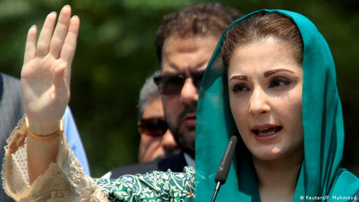 Pakistan Maryam Nawaz Sharif, Tochter des Premierministers (Reuters/F. Mahmood)