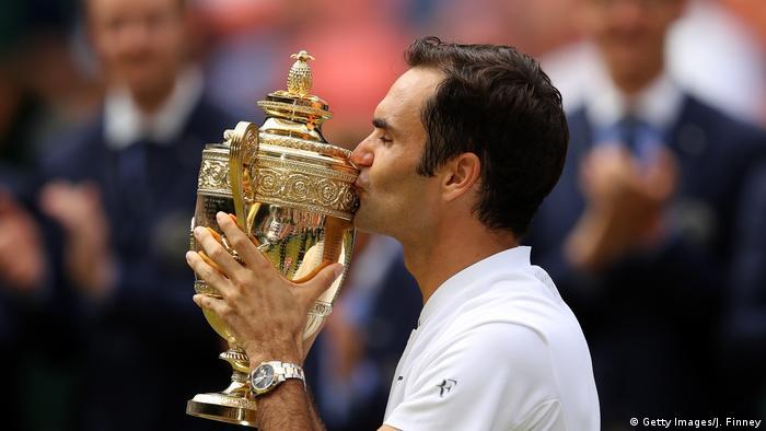 Wimbledon 2017 | Finale Herren | Sieger Roger Federer (Getty Images/J. Finney)