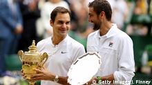 Wimbledon 2017 | Finale Herren | Sieger Roger Federer mit Marin Cilic