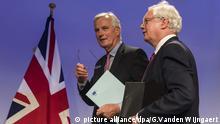 Erste Runde der Brexit-Verhandlungen Michel Barnier David Davis