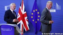Brüssel Brexit-Verhandlungen, David Davis & Michel Barnier