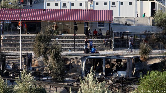 Griechenland Flüchtlingslager Moria auf Lesbos (Reuters/E. Marcou)
