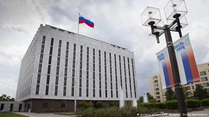 USA - Russische Botschaft in Washington DC (picture alliance/AP Images/J. Scott Applewhite)