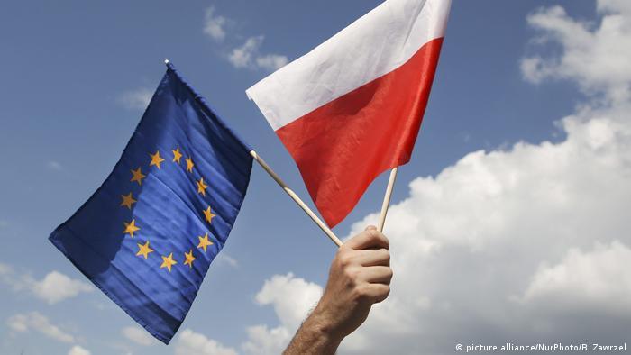 Poland and EU flags
